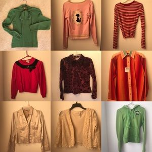 LONG SLEEVE SWEATER LOT - size sm/med